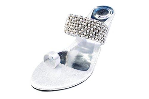 Wear & Walk UK ,  Mädchen Damen Slipper Silber