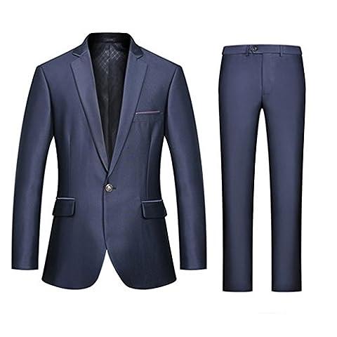 Linyuan Gentleman Classic 2PCS Men's Wedding Suits Groom Tuxedos Business Formal Suit