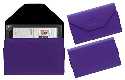 "ACM Premium Pouch Case for Barnes & Noble Nook Hd+ 9"" Tablet Flip Flap Cover Purple"