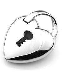 Colgante de acero inoxidable colgante corazón Love Amor castillo clave de acceso amor ENAMORADO bomba