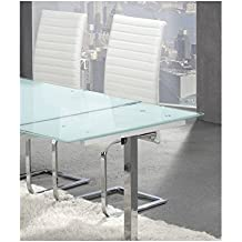 Amazon.es: Mesa Comedor Extensible Cristal