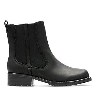 Clarks Orinoco Club, Boots femme, Noir (Black Leather), 39.5