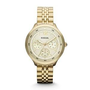 Fossil Damen-Armbanduhr Analog Quarz Edelstahl beschichtet ES3240