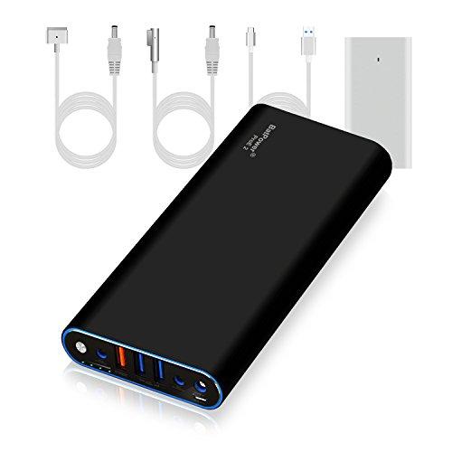 BatPower ProE 2 EX10B Power Bank Batterie Externe Batterie Portable pour Apple Macbook Pro Macbook Air Mac Retina 2006-2015 Laptop, QC 3.0 Ports USB Charge Rapide pour Tablette et Smartphone -148Wh