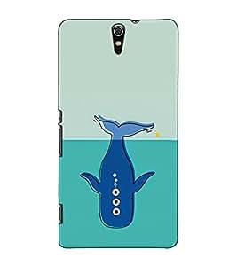 Fuson Designer Back Case Cover for Sony Xperia C5 Ultra Dual :: Sony Xperia C5 E5533 E5563 (A dolphin cartoon theme)