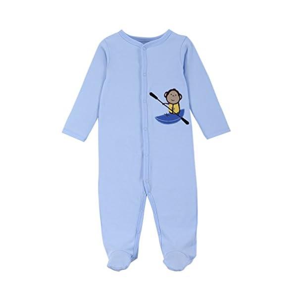 YOUJIA - Pijamas Bebe - Manga Larga - Paquete de 3 - Jumpsuit - para Bebé Niños y Niñas 4