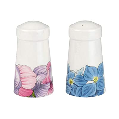 PORTMEIRION BOTANIC BLOOMS Sweet Pea and Hydrangea Salt and Pepper - BM78778-XD from Portmeirion