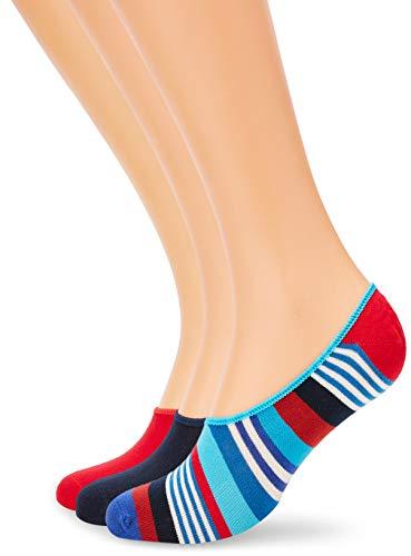 Happy Socks Herren 3-Pack Multi Stripe Liner Socken, Mehrfarbig (Multicolour), 7/10/2018 (Herstellergröße: 41-46) (erPack 3) -