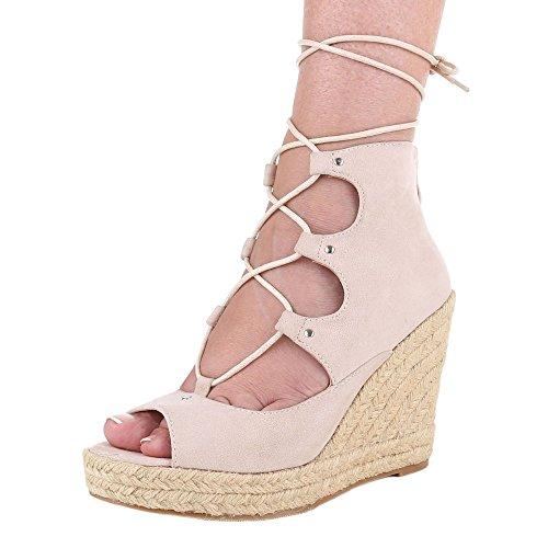 Ital-Design , chaussures compensées femme Beige