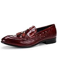 Mocasines con Borla Oficina Hombres Negocios Zapatos Transpirable Oxfords Loafers Zapatos de Conducción Comodidad