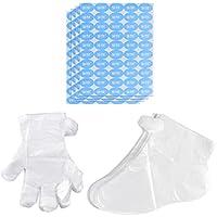 Frcolor 600 unids Parafina Trazadores de baño Desechables Guantes de plástico Calcetines para mano Pie Parafina Baño Cera Terapia Bolsas