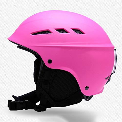SCJ Snowboard-Schutzhelm, warm und atmungsaktiv, Unisex, einstellbare Größe,Pink,M