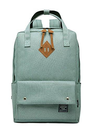 Keshi Leinwand Cool Damen accessories hohe Qualität Einfache Tasche Schultertasche Freizeitrucksack Tasche Rucksäcke Light Grün