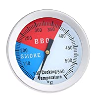 """Mtsooning 1Pc 2"""" Face 550F Thermometer Temperature Gauge Bbq Barbecue Charcoal Grill Smoker"""