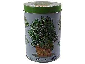 Jameson & Tailor Boîte à thé en métal 300g Design herbes Taille de la boîte 13x 9cm