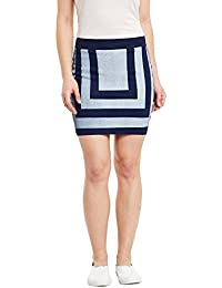 Rider Republic Women's Pencil Mini Skirt (305102W-34_Blue_34)