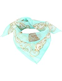 Lady Gift Chain Knotted String Prints Chiffon Neck Scarf