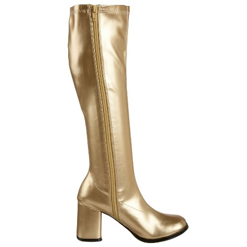 Pleaser Gogo300 / Yl, Stivali Da Donna Color Oro