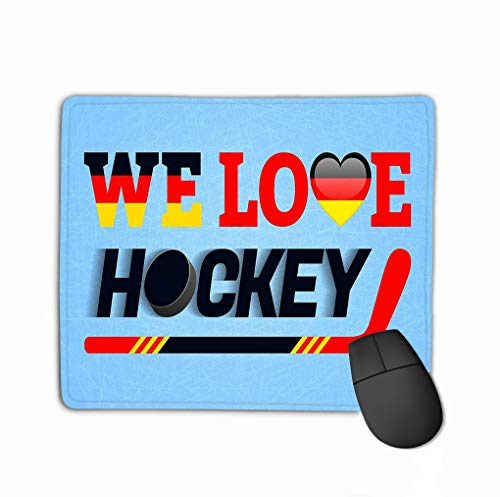 Mouse Pad German Ice Hockey Background Germany Love Poster Heart Symbol Traditional Germanic Colors Good idea Rectangle Rubber Mousepad 11.81 X 9.84 Inch
