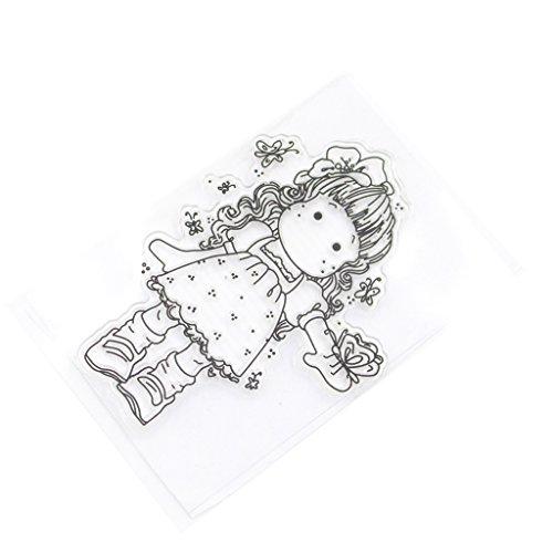 Wiffe lovely Girl DIY scrapbooking artigianato di silicone timbri in gomma trasparente
