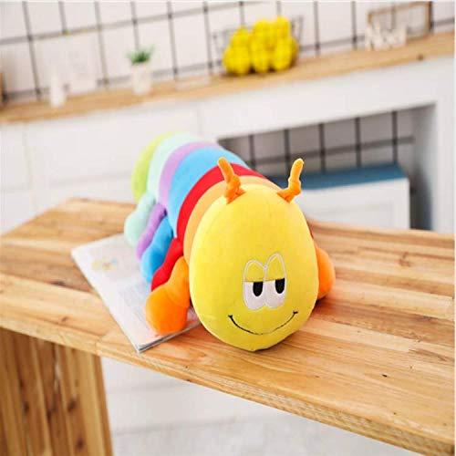 MYETO Plüsch Spielzeug Bunte Raupen, Millennium Bug, Puppe Plüsch Spielzeug Baby Kinder Raupe Halten Kissen Puppe 40Cm -