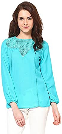 The Vanca Women's Body Blouse Top (TSF2453_Teal_XL)
