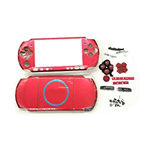 Zhhlaixing Full Housing Faceplate Hard Case+Buttons+Screws fur PSP 3000 Repair Part