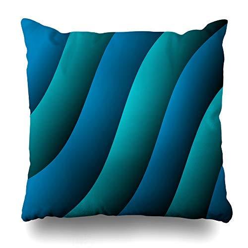 ZGNNN-EU Aqua Blue Tapetenkissenbezüge, 45,7 x 45,7 cm, mit Reißverschluss -