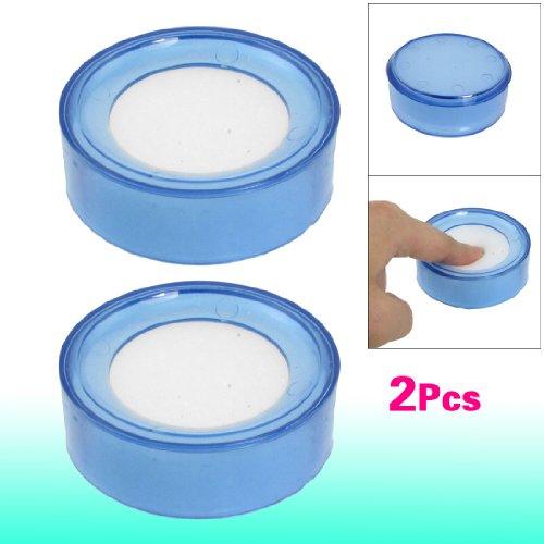 Sonline 2 x Hellblau Plastik Rund Sache Finger Nass Schwamm fuer Bargeld 6.9cm Durchmesser