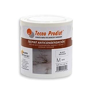 TECPINT ANTICONDENSACIÓN de Tecno Prodist – 2,3 Litros – Pintura Anti-condensación y Anti-moho al Agua para Interior y Exterior – Paredes y Techos – Buena Calidad – Fácil Aplicación – (BLANCO)