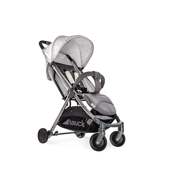 Hauck Swift Plus, Compact Pushchair with Lying Position, Extra Small Folding, One Hand Fold, Lightweight, Carrying Strap, from Birth Up To 15 kg, Lunar Hauck Our smallest comfort stroller Extra small and fast folding with one hand Extremely light - easy to carry over the shoulder 8