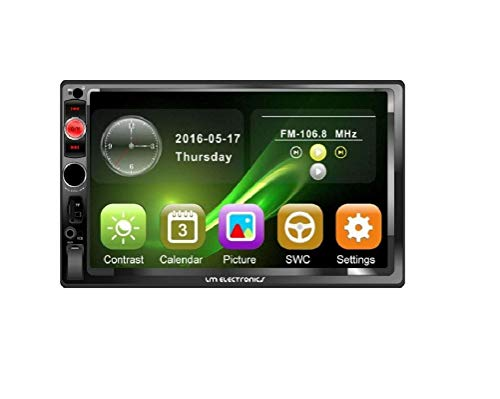 Stereo Audio Receiver for Car with Touch Screen of 7 Inches, MP5 Player, FM Radio, Video, Bluetooth, Connection for Android / iOS, MP3 / WMA / WAV / MKV / FLAC / OGG Compatible