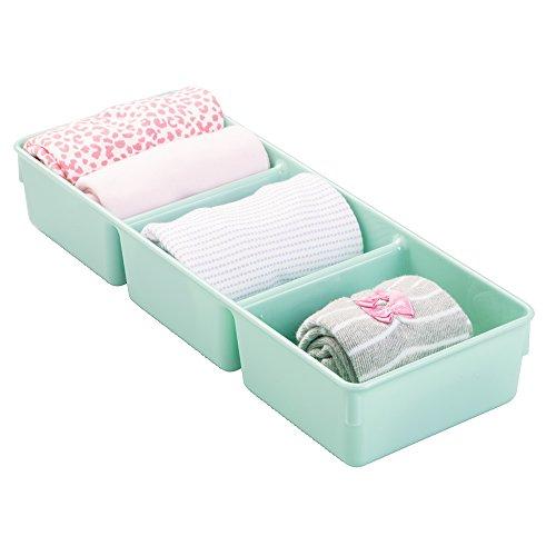 mDesign caja organizadora para artículos bebé - Organizador plástico color...