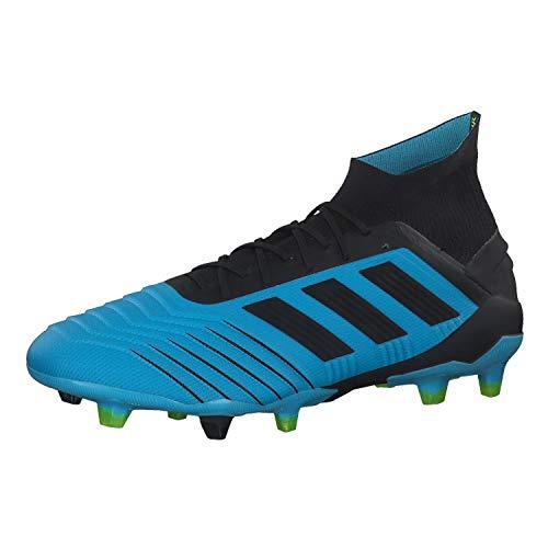 adidas Herren Predator 19.1 FG Fußballschuhe, Blau Bright Cyan/Core Black/Solar Yellow, 46 EU