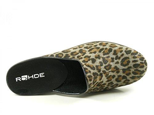 Rohde 2374-85 Halden Pantofole Donna Braun