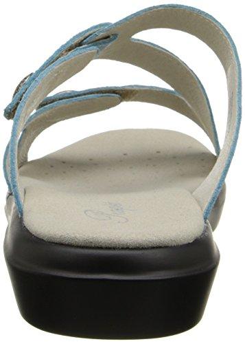 Propet St. Lucia Large Cuir Sandale Aqua Foil