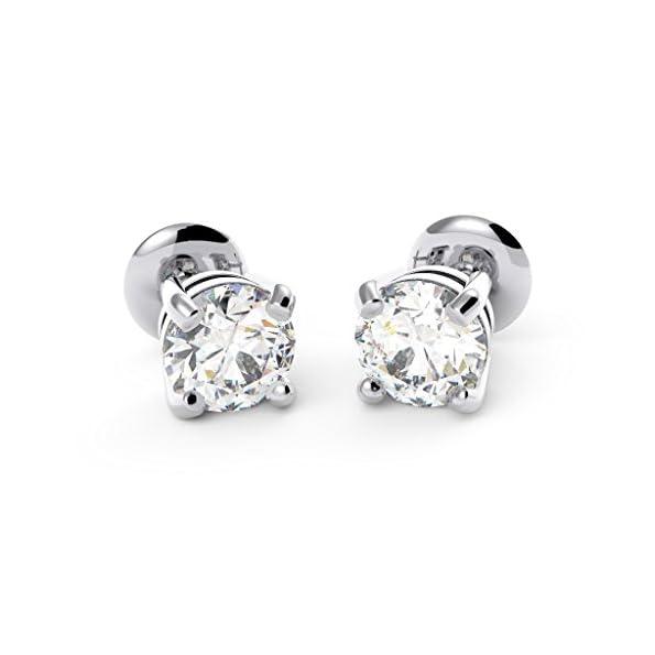 D-F/VS Top Die meisten Qualität Kreativität Rund Diamant Ohrring Ohrstecker 18K Weiß Gold–Karat Gewicht