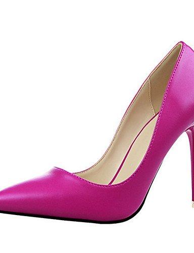 WSS 2016 Chaussures Femme-Décontracté-Noir / Jaune / Rose / Rouge / Gris / Corail-Gros Talon-Talons-Talons-Laine synthétique yellow-us6.5-7 / eu37 / uk4.5-5 / cn37