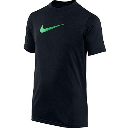 Nike Legend - T-shirt da donna Negro / Verde (Black/Spring Leaf)