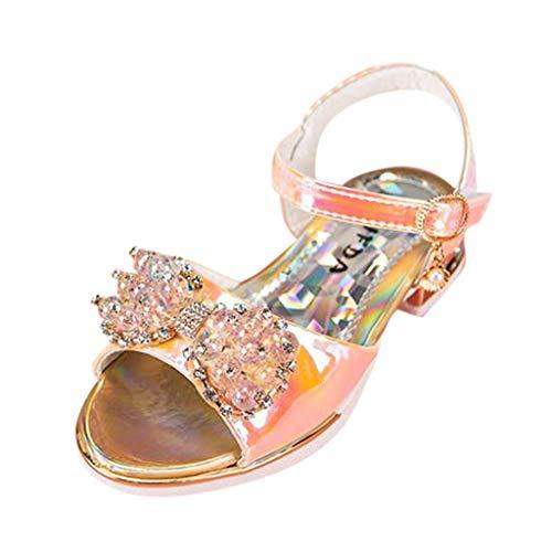 baby prinzessin schuhe, mädchen toddler infant kids baby girls pearl crystal single roman shoes sandals sommer mode bowknot flachen strand hochzeit freizeitschuhe