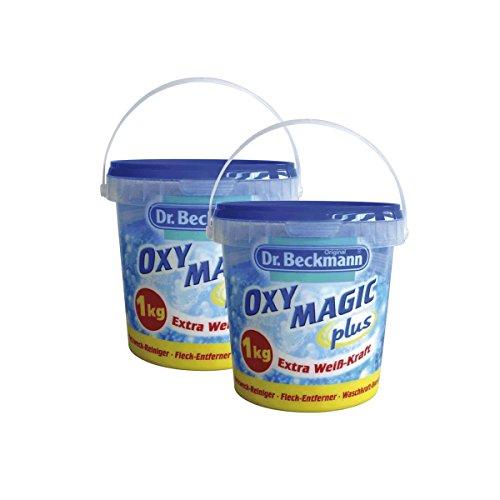 Oxy Plus (2x Dr. Beckmann Oxy Magic plus Pulver 1 kg - Extra Weiß-Kraft)