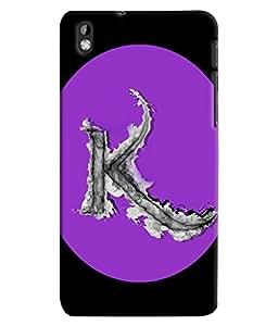 Fuson 3D Printed Alphabet K Designer back case cover for HTC Desire 816 - D4180