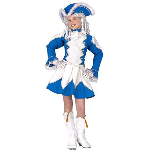 NET TOYS Garde-Kostüm Funkenmariechen für Kinder | Blau-Weiß in Größe 140, 8 - 10 Jahre | Extravagantes Mädchen-Outfit Tanzmariechen | Perfekt angezogen für Karneval & Prunksitzung