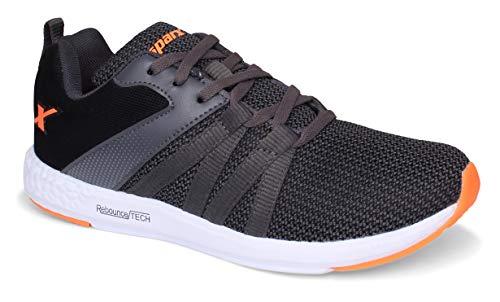 Sparx Men SM-397 Dark Grey Fluorescent Orange Sports Shoes