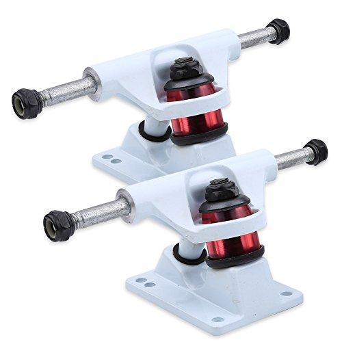 Achsen für Skateboard 2er Set aus Magnesium- und Alulegierung ( Farbe : Weiß )