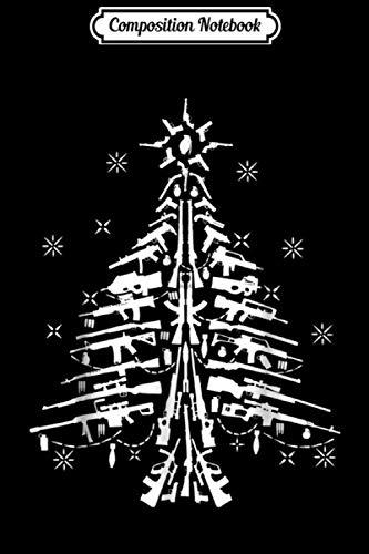 Composition Notebook: Guns Christmas Tree Handgun Assault Rifle M4 AR15  Journal/Notebook Blank Lined Ruled 6x9 100 Pages