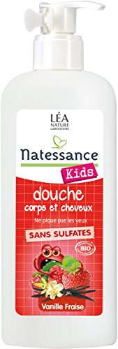 Kids Bio Shampooing Douche Fraise Vanille 500 Ml