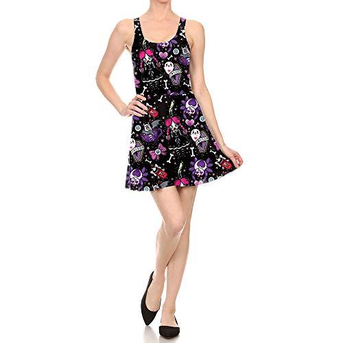 rbis Kleidfrauen Männer Halloweenhalloween Kleid Weibliche Spinne Muster Kleid, L 3D ()