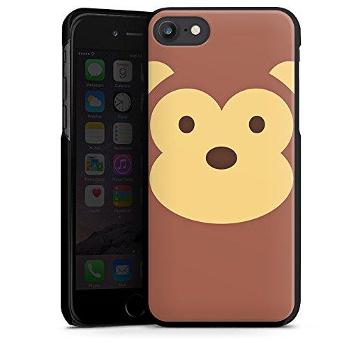 Apple iPhone X Silikon Hülle Case Schutzhülle Affe Monkey Comic Style Hard Case schwarz
