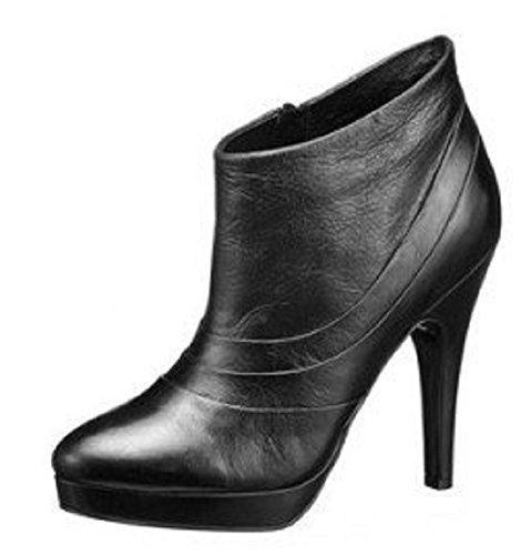 Ankleboot laura scoot en cuir lisse noir Noir - Noir
